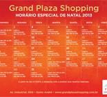 Confira os horários especiais de Natal do Grand Plaza