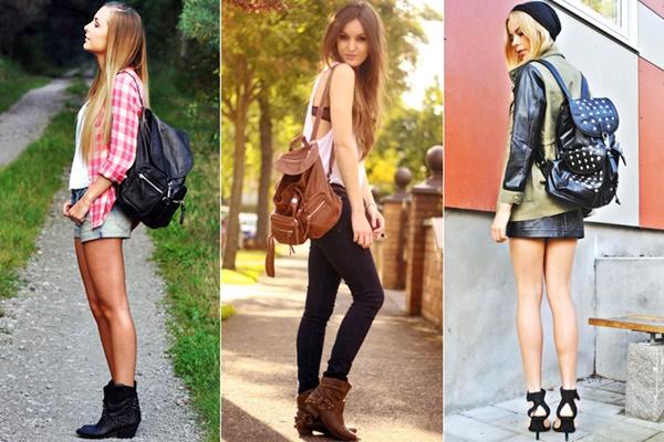 5a531d3d7 Se você está começando a olhar as mochilas com outros looks, fica a dica:  invista primeiro em mochilas curingas, para que você nunca fique na mão na  hora de ...