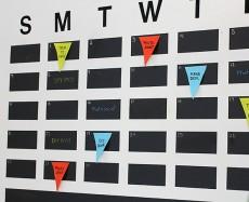 Faça um calendário na parede